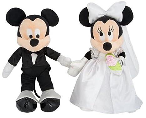 Amazon.com: Disney Parks Mickey & Minnie Mouse Wedding Plush Set ...