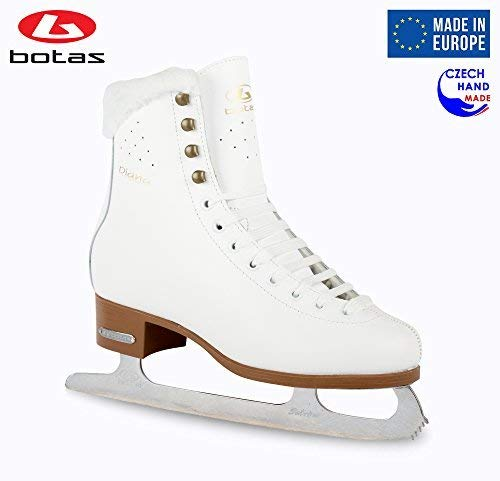 Botas - Model: Diana/Made in Europe (Czech Republic) / Figure Ice Skates for Women, Girls/Sabrina Blades/Color: White, Size: Adult 8.5