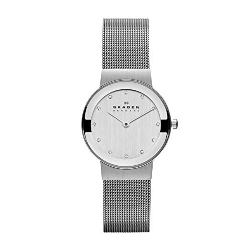 Skagen Women's 26mm Freja Stainless Steel Mesh and Glitz Watch