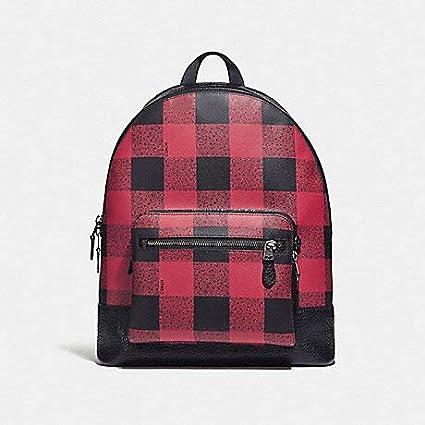 64b6bc552e74 Amazon.com  COACH WEST Backpack with Buffalo Check Print