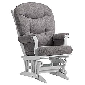 Dutailier Adèle Glider Chair (White/Dark Grey)