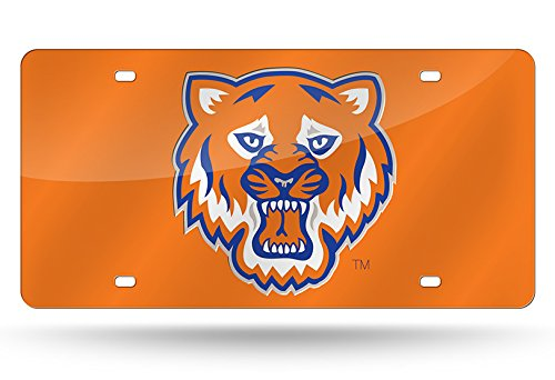 Rico NCAA Sam Houston State Bearcats Laser Inlaid Metal License Plate Tag, Orange, 6'' x 12'' by Rico
