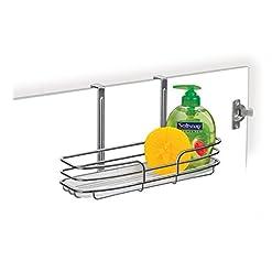 Cabinet Door Organizers Lynk Over Cabinet Door Organizer – Single Shelf – w/Molded Tray – Chrome cabinet door organizers