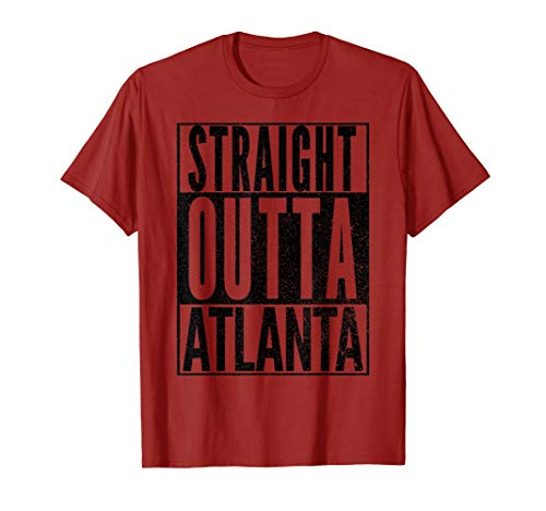 Straight Outta Atlanta Georgia Souvenir Novelty Shirt - Souvenirs Novelties