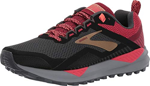 Brooks Women's Cascadia 14 Black/Rumba Red/Coral 9.5 B US