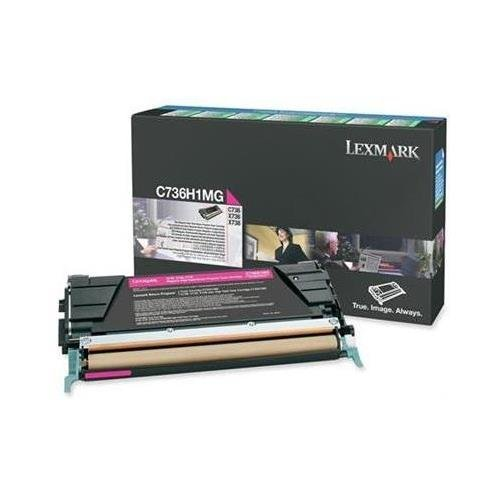 Lexmark - C736H1MG High-Yield Toner, 10000 Page-Yield, Magenta by Lexmark (Toner De Sharp compare prices)