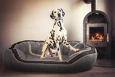 tierlando® Pepper PE5 – 06 cama almohada ortopédica para perros Perros sofá gris 135 cm