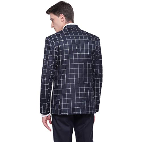 41vA5xHzeEL. SS500  - MANQ Men's Slim Fit Formal/Party Check Blazer