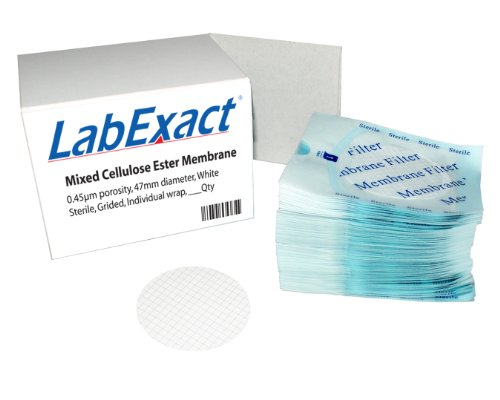 LabExact 1200002 MCE Membrane Flats, Sterile, Gridded, Hydrophilic, 0.45um, 47mm (Pack of 600) by LabExact