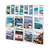 Reveal Magazine and Pamphlet Display Rack - 40x40x34.75'' - 16 Pockets