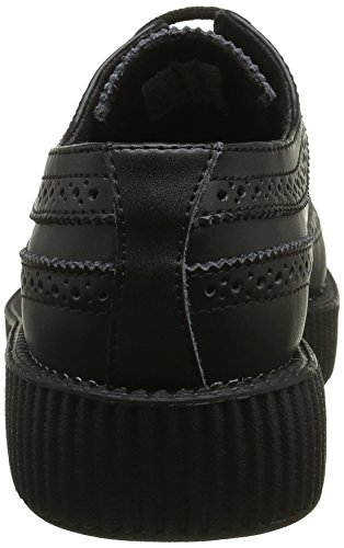 K T Creeper Lacées Black Adulte Chaussures Sole Lo U Noir Mixte Viva rrw5HB
