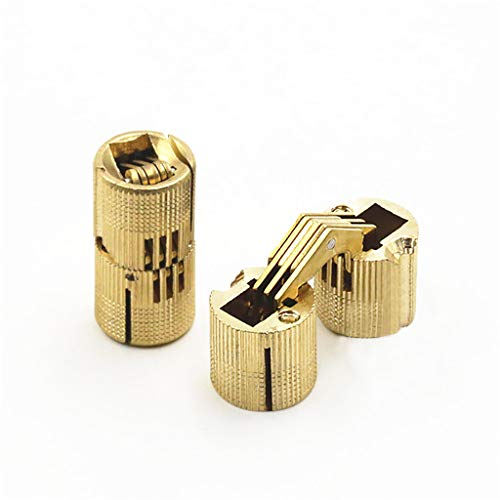 Euone Clearance Sales, Cylindrical Barrel Invisible Furniture Hinge Concealed Hinge DIY Wooden (C)