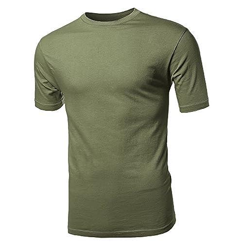 Olive Green Men's Shirt: Amazon.com