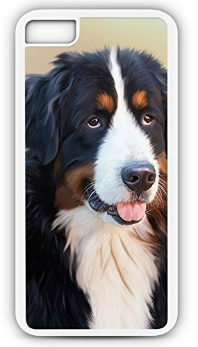 - iPhone 7 Case Bernese Mountain Dog Berner Senner Cattle Swiss Alps Customizable by TYD Designs in White Plastic Black Rubber Tough Case