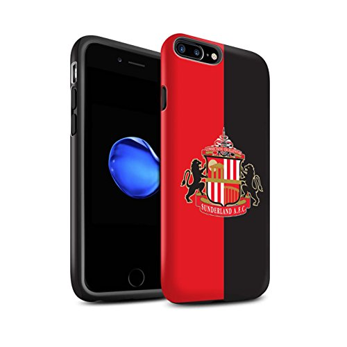 Officiel Sunderland AFC Coque / Matte Robuste Antichoc Etui pour Apple iPhone 7 Plus / Rouge/Noir Design / SAFC Crête Club Football Collection