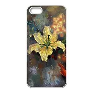 Artistic flowers in the rain Phone Case For Iphone 4/4S Cover (TPU)