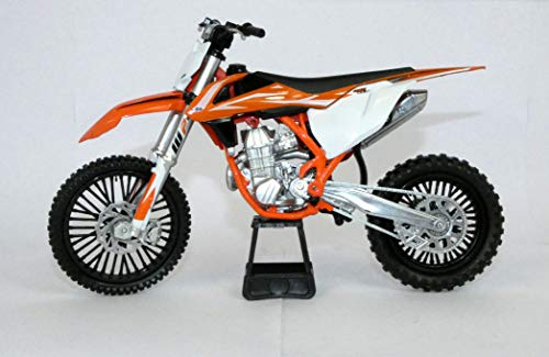 New Ray KTM 450 SX-F Dirt Bike Orange and White Motorcycle Model 1/10 57943 (Dirt Bike 100 Dollars)
