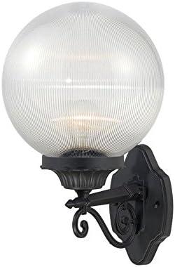 Acclaim 5261BK CL Havana Collection 1-Light Wall Mount Outdoor Light Fixture, Matte Black