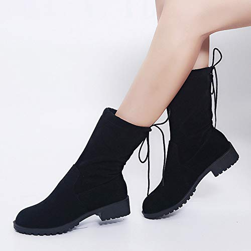 Tactical Women Martin Heeled Black Platform Wedge Chukka Mid Insoles Horse Ankle Boots Lolittas Shoes Desert Up Winter Lace Riding Pvtqann