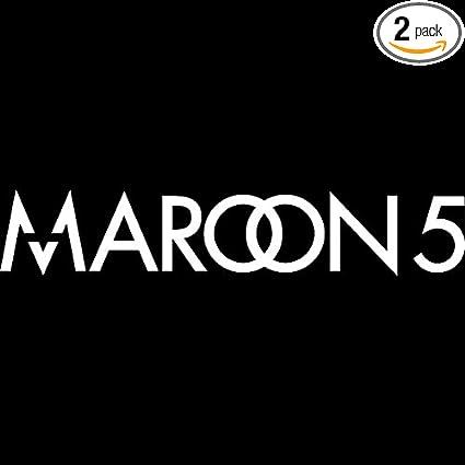 Angdest maroon 5 band logo icon symbol white set of 2