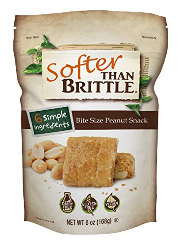 Softer Than Brittle Bite Size Peanut Snacks 6 oz