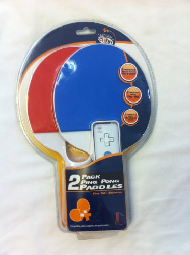 2 Pack Ping Pong Paddles for Wii Remote
