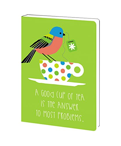 - Tree-Free Greetings Tea and Sympathy Bird Soft Cover Journal, 5.5 x 7.5 Inches, 160 Lined Pages, Green, Gift for Tea Lovers (JR89991)