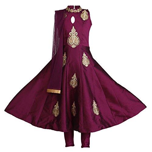 Ashwini Girls Tapeta Maroon Salwar Salwar Kameez Suit