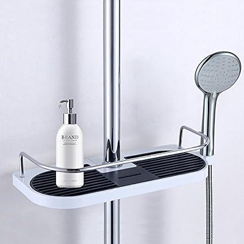 cherryer tablet fr brausestange ablagefach halterung badezimmer regal dusche tr seife shampoo etc - Duschen Im Garten Mit Seife