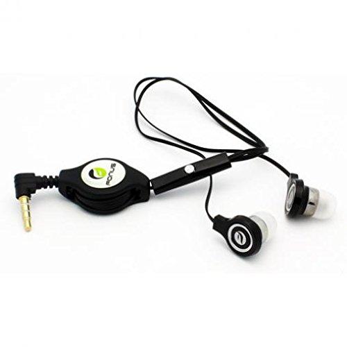 Retractable Headset Handsfree Earphones Mic Earbuds Headphon