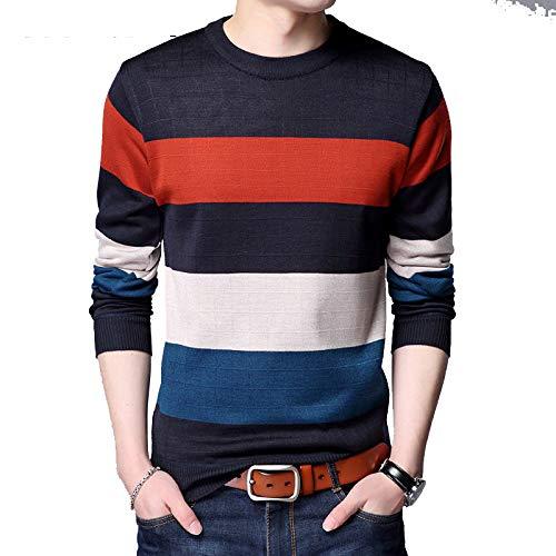JIAKENVDE Herren Pullover Winter Pullover Geschäft Casual Oansatz Dünne Pull Homme Shirt 177