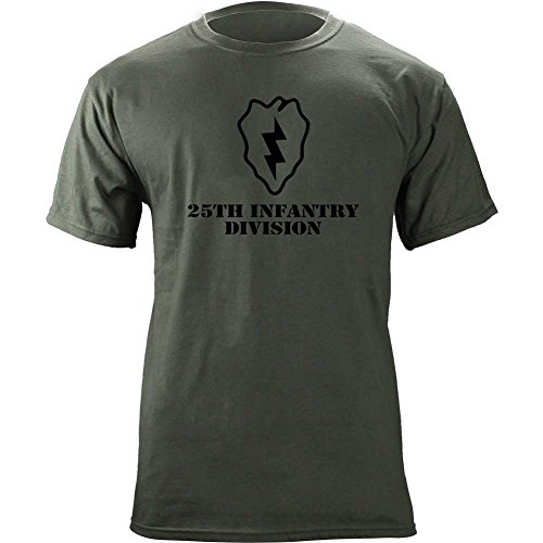 Army 25th Infantry Division Subdued Veteran T-Shirt (Large, Green)
