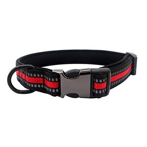 callm Pet Dog Adjustable Collar Buckle Cat Soft Necklace Reflective Webbing]()