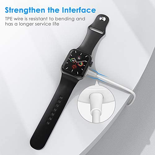 Watch Charger for Apple Watch, Portable Universal Wireless Magnetic Charger Charging Cable Supports 7.5W Fast Charging, Suitable for Apple Watch Series 6/SE/5/4/3/2/1