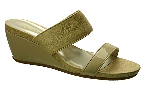 David Tate Charlotte Womens Sandals, Nude Vintage Goat, Size - 10WW