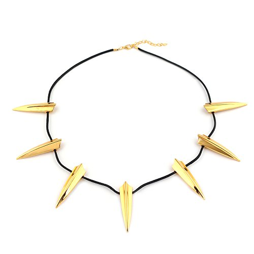 Gold Element Halloween Costume (COLORFUL BLING Chic Black Pendant Necklace King Cosplay Halloween Party)