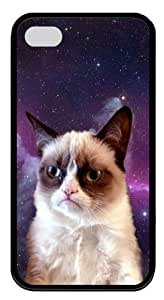 iPhone 4s Case Cover - Grumpy Cat PC Silicone Case Cover for iPhone 4 and iPhone 4s - Black WANGJING JINDA