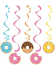Creative Converting Donut Time Dizzy Danglers Hanging Swirls 5-Pieces