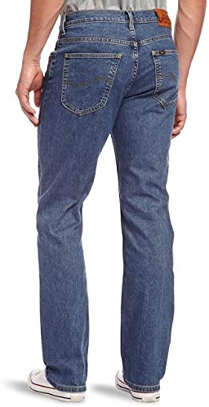 LeeJeans Męskie Jeanshose Blau Stonewash Blue: Odzież