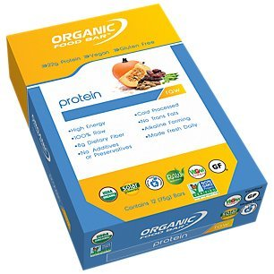 Organic Food Bar- Pumpkin & Pea Protein Bar, - 12 Food Bar Pack Organic