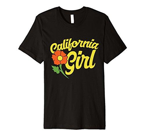 (California Girl t-shirt cali poppy flower tee shirt )