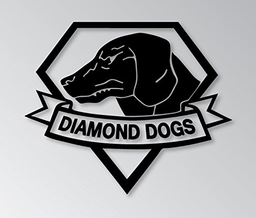 "METAL GEAR SOLID VIDEO GAME DIAMOND DOG LOGO VINYL STICKERS SYMBOL 5.5"" DECORATIVE DIE CUT DECAL FOR CARS TABLETS LAPTOPS SKATEBOARD - BLACK"