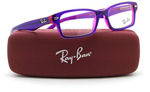Ray-Ban RY1530 JUNIOR Square Prescription Eyeglasses RX - able 3666, - Purple Ray Eyeglasses Bans