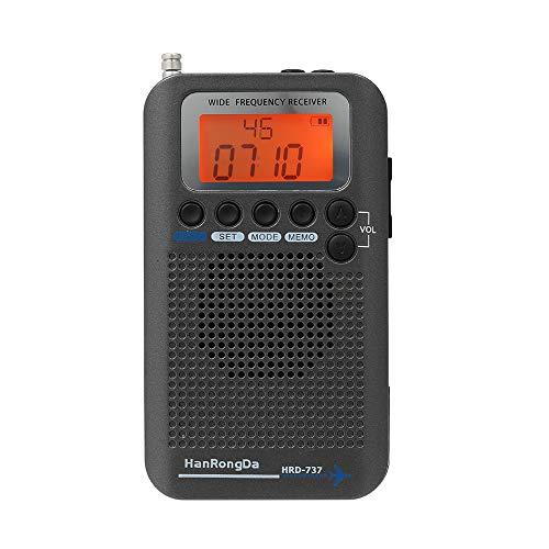 - Docooler HanRongDa HRD-737 Portable Full Band Radio Aircraft Band Receiver FM/AM/SW/CB/Air/VHF World Band with LCD Display Alarm Clock