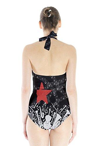 CowCow - Traje de una pieza - para mujer rojo & negro