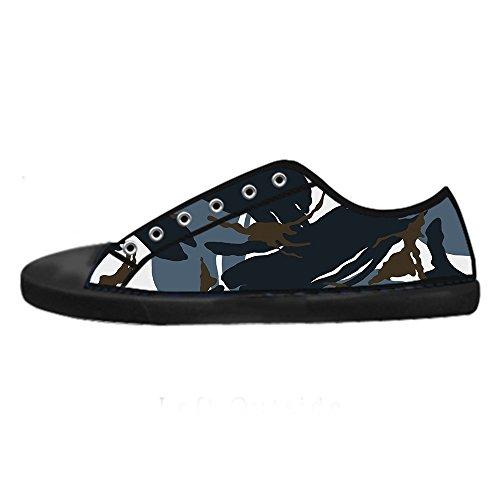 Custom camuffamento Womens Canvas shoes I lacci delle scarpe scarpe scarpe da ginnastica Alto tetto Más Barato En Línea HA51LFsttv