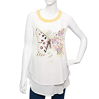 Amorite Multi Color Mixed Round Neck Blouse For Women