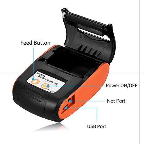DZSF Impresora Bluetooth portátil móvil de 58 mm Impresora ...