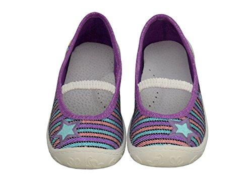 Strisce Principessa Feet For Traspirante Scarpe Sane Materna Con 3f Pelle Scuola Ragazza 3a1 28 Dimensione 27 31 In 26 30 Bambini Solette Freedom Ballerinas 19 29 Viola Per vSqE5wE