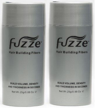 2 Pack Special Fuzze Second Generation Keratin Hair Building Fibers – Medium Brown – 25g/0.88 oz. – Adds Volume and Thickness to Balding or Thinning Hair